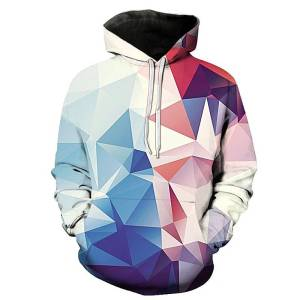 gamer-protocol-polygonal hoodie - Front