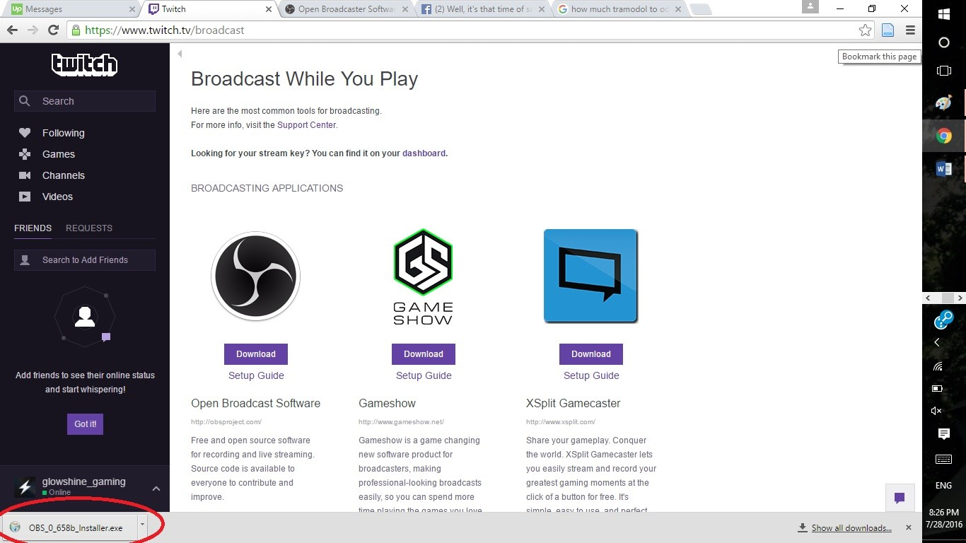 Browse Through Twitchs List Of Recommended Free To Use Streaming Apps And Pick The