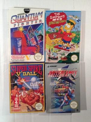 Quelques jeux NES en boîte...
