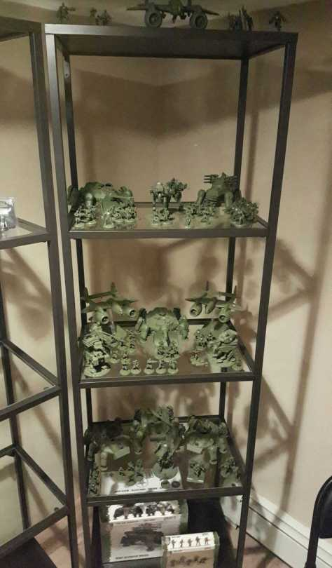 Having a shelf full of un-painted miniatures is a solvable problem, having a shelf full of miniatures with no one to play with is miserable. Find some friends BEFORE you start collecting massive armies.