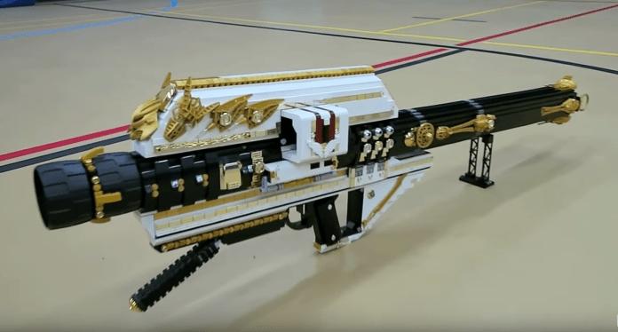 Destiny Gjallarhorn rocket launcher made of lego