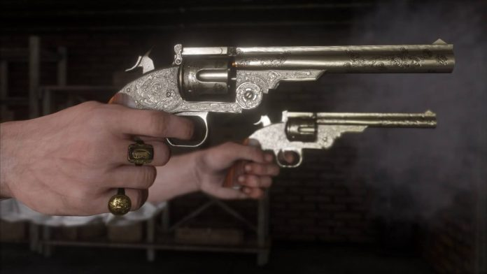 Red Dead Redemption 2 weapons pistols screenshot