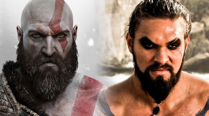 Jason Momoa God of War Kratos comparison