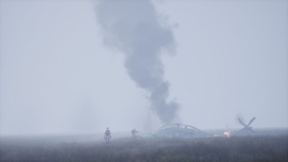 Dead Matter helicopter crash site