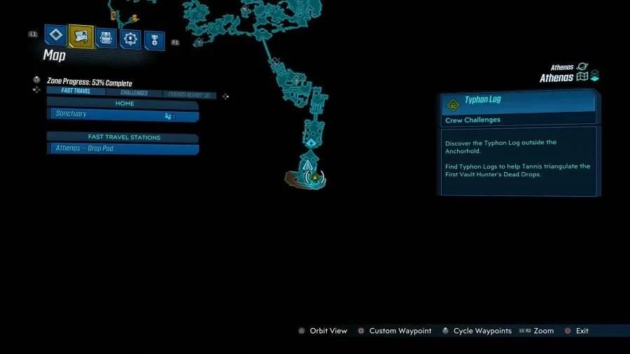 Athenas Typhon Logs 3 900x506 - Borderlands 3 - Athenas, guida alle sfide