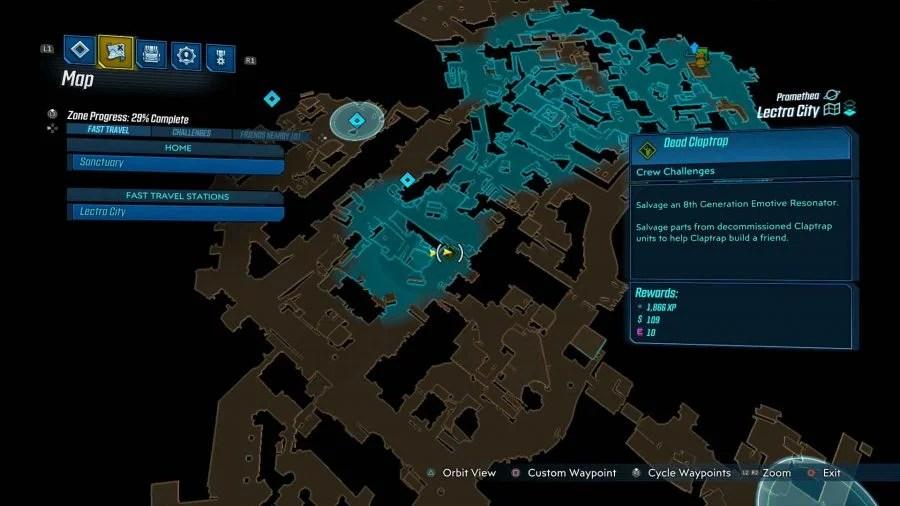 Lectra City Dead Claptrap 2 900x506 - Borderlands 3 - Lectra City, guida alle sfide