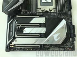 This image shows gigabyte X399 AORUS Extreme motherboard.