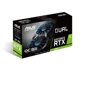 This image shows the ASUS GeForce RTX 2080 graphics card.