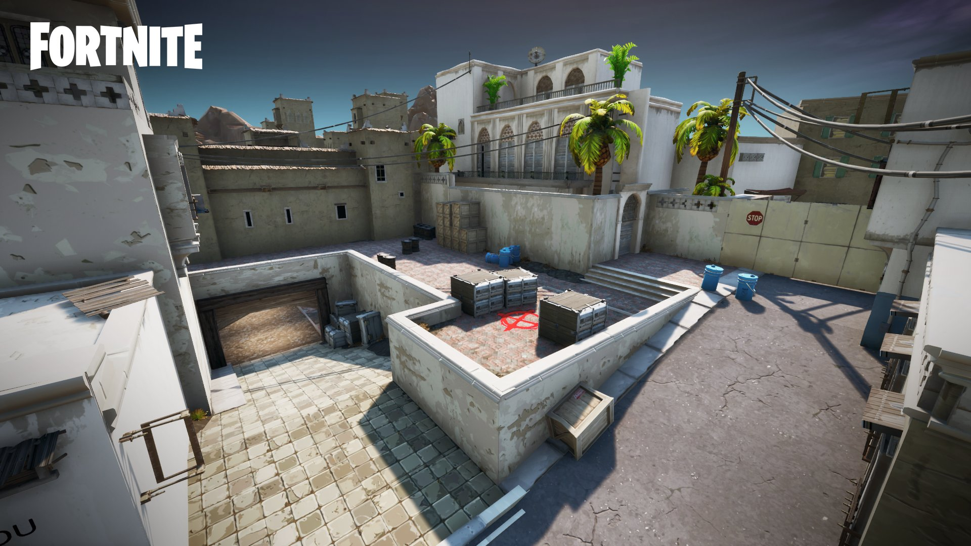Expand Map Fortnite Counter Strike S Popular Map Dust 2 Is Recreated In Fortnite