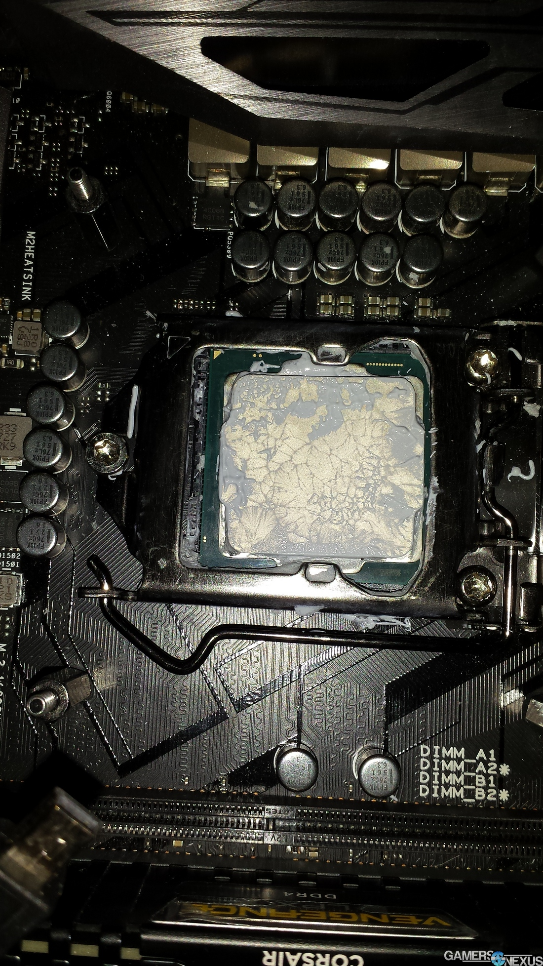 too much thermal paste