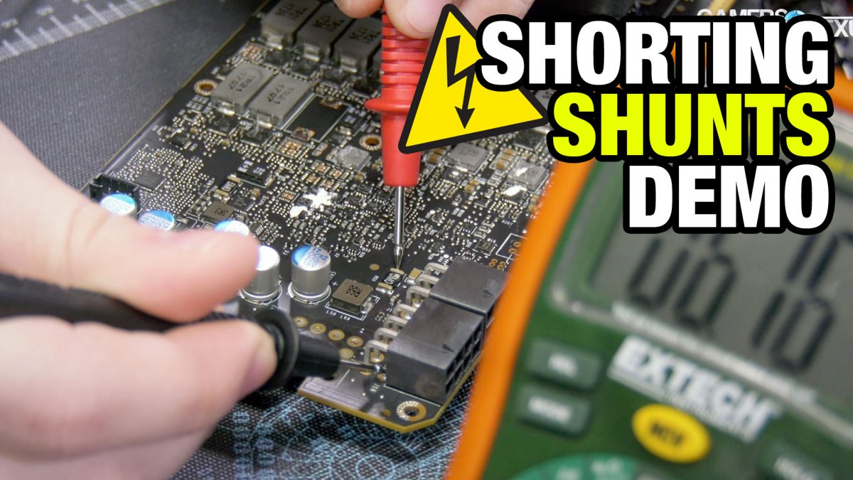 hight resolution of how to short shunts to increase power budget for overclocking titan v