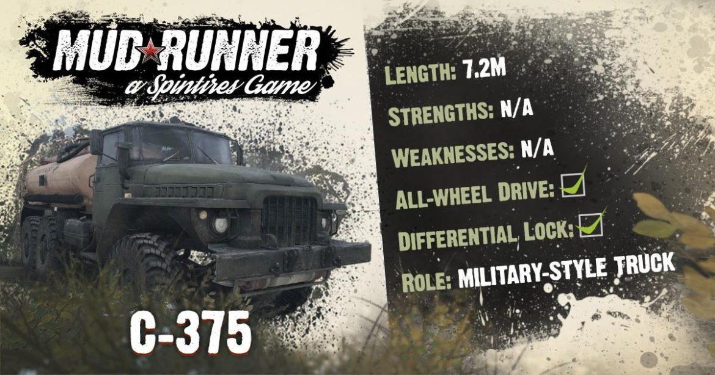 Spintires MudRunner C375