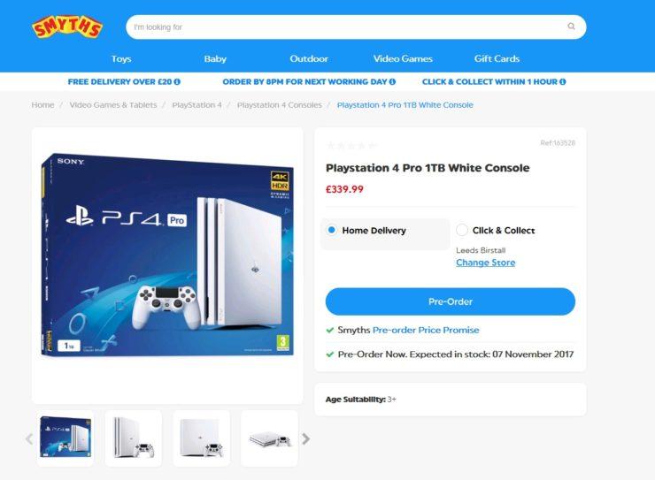 White-PS4-Pro-Glacier White-GamersRD
