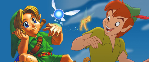 Zelda link was inspired by Peter pan