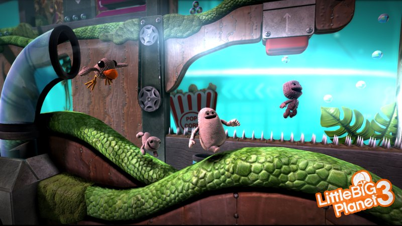 LIttle big planet 3 video game with couples