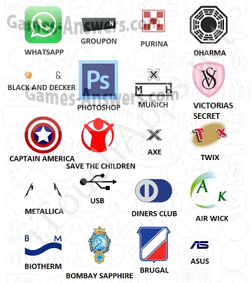 Logo Quiz answers level 11 - Games Answers