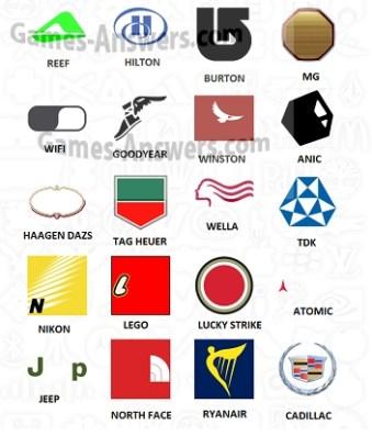 Logo Quiz answers level 4 part 3
