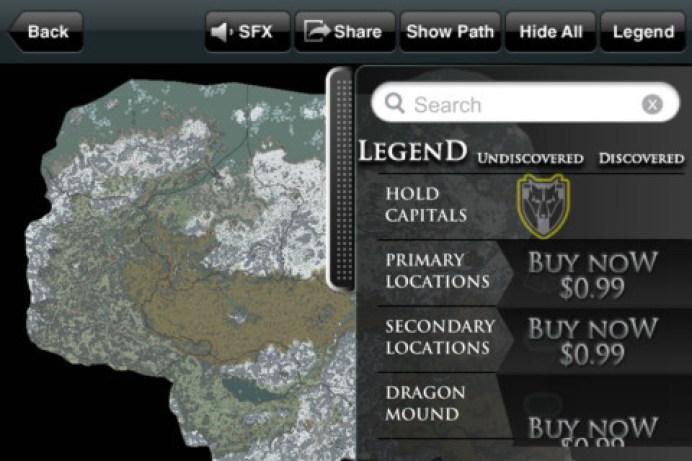 app_map_skyrim2 Skyrim : l'application Iphone