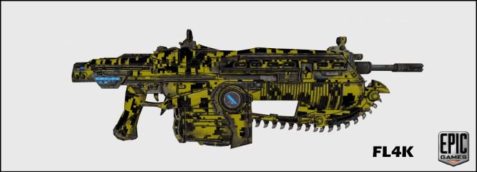 FL4K_WeaponSkin Gears of Wars 3: Les skins du prochain DLC