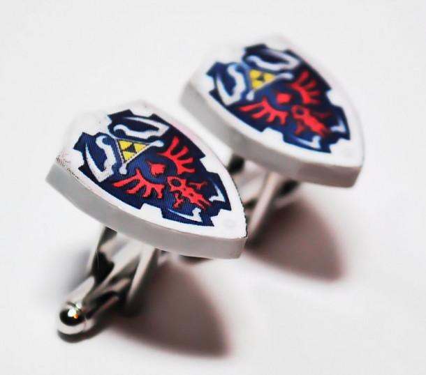 boutons-manchette-zelda-610x538 Geek: Boutons de manchette Zelda