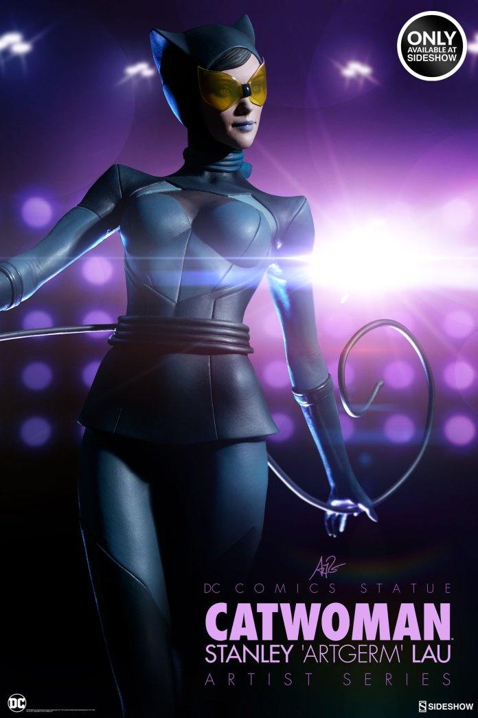 dc-comics-catwoman-statue-stanley-artgerm-lau-artist-series-200428-01 Figurines - Harley Quinn - Catwoman et Poison Ivy vues par Artgerm