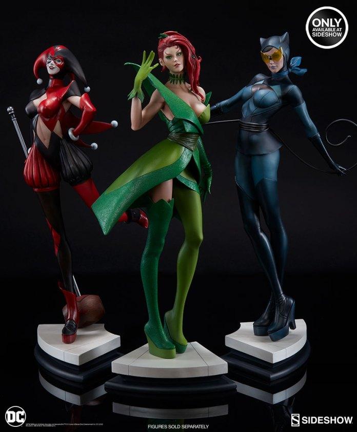 dc-comics-catwoman-statue-stanley-artgerm-lau-artist-series-200428-17 Figurines - Harley Quinn - Catwoman et Poison Ivy vues par Artgerm