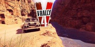 VRally4 voiture rallye canyon
