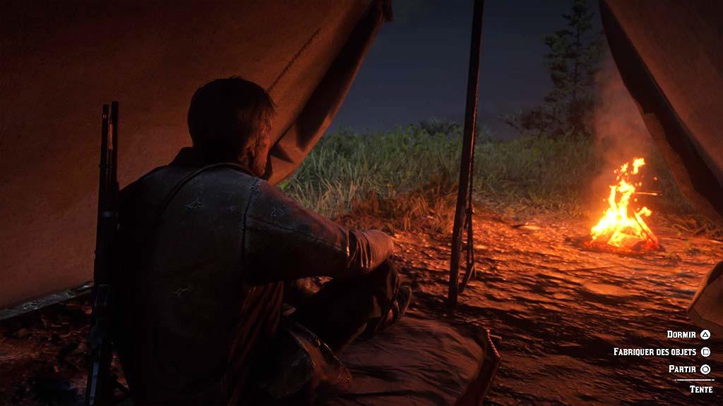 feu_camp_tente Mon avis sur Red Dead Redemption II - Paré pour la grande épopée ?