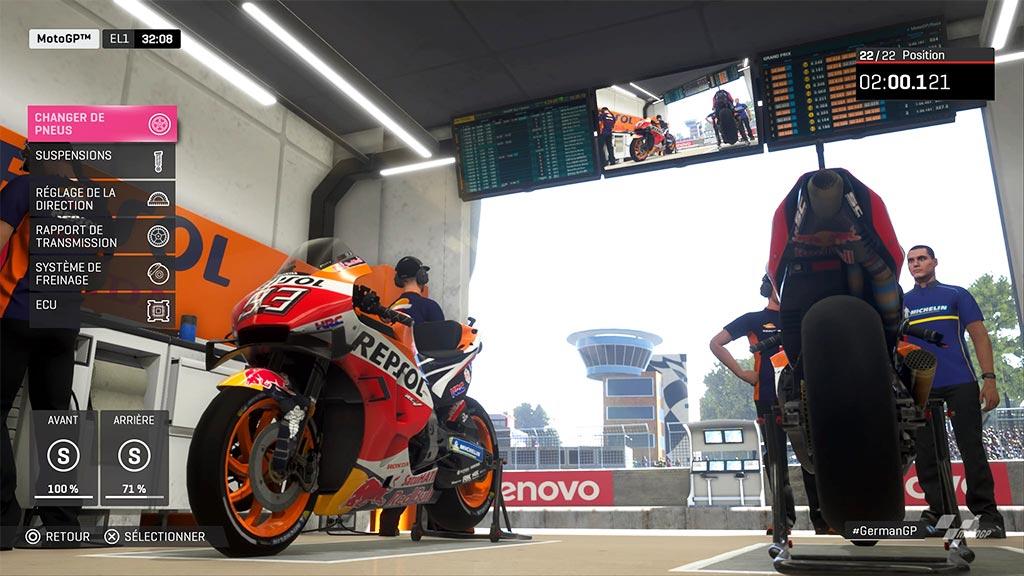 MotoGPReglage-1024x576 Mon avis sur Moto GP 19 - Faisons brûler la gomme !