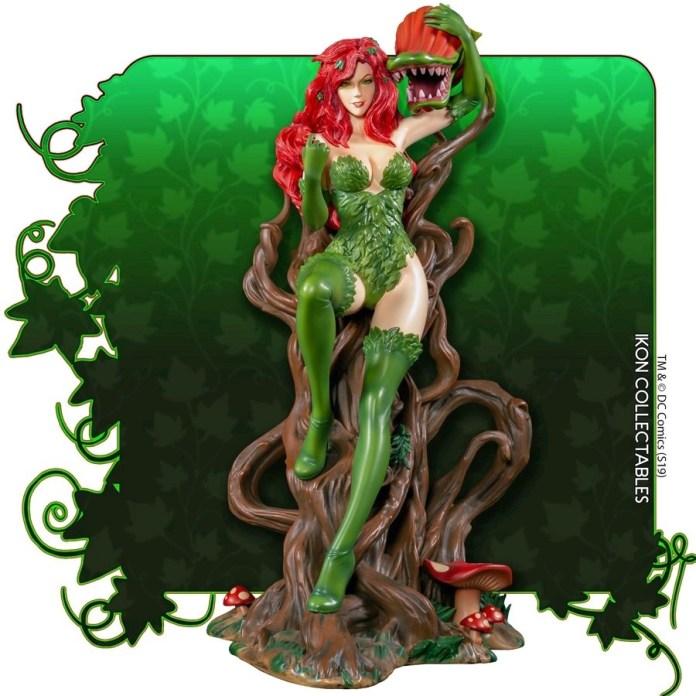 IKO1049-Poison-Ivy-Statue-1 Figurine - Poison Ivy et la fleur tueuse