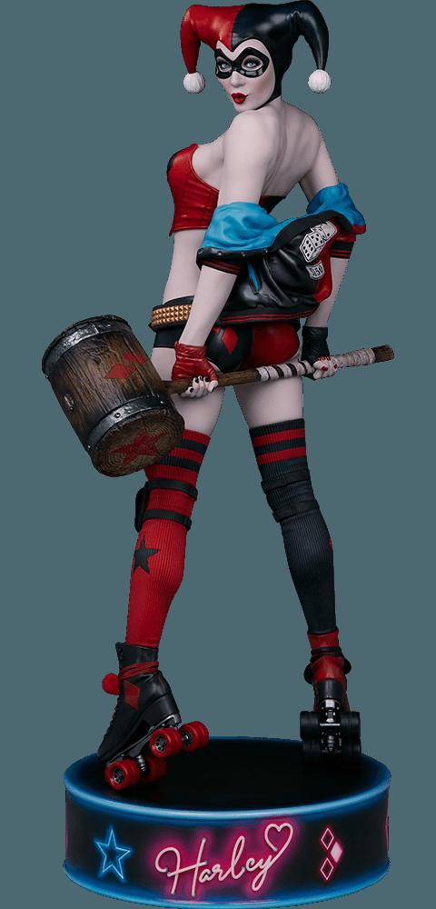 harley-quinn-hell-on-wheels_dc-comics_silo-deluxe Figurine - Harley Quinn en roller par SideShow