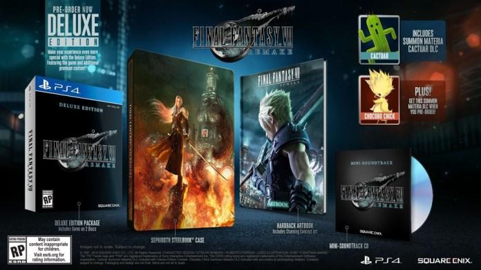 dition-deluxe-final-fantasy-VII-remake Final Fantasy VII - Steelbook et édition spéciale au meilleur prix