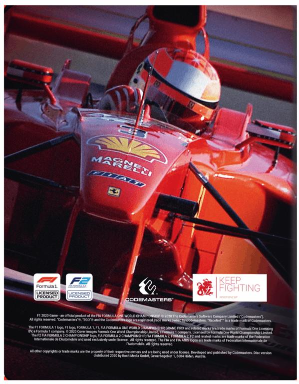 F12020_steelbook_packshot_REAR_2D_599x768 F1 2020 - Le Steelbook de Schumi seulement sur PS4 et chez Amazon
