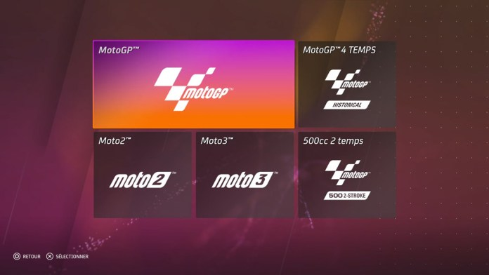 Menu_categorieMoto_Planing_MotoGP20 Mon avis sur Moto GP20 - Wheeling power !