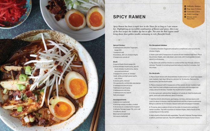 Spicy-Ramen_1024x640 Bungie et Insight Editions préparent un livre de recettes Destiny
