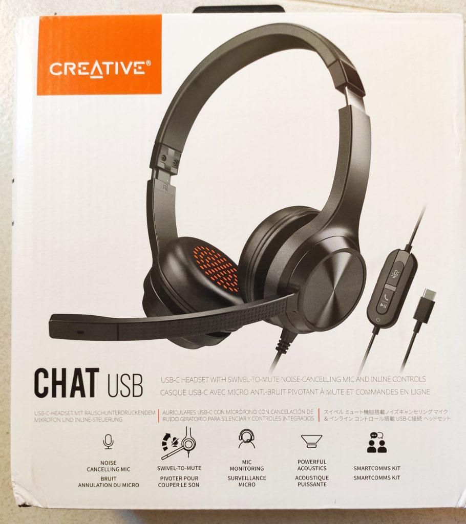 CreativeChatUsb_Boite1-910x1024 Présentation du casque Creative Chat USB
