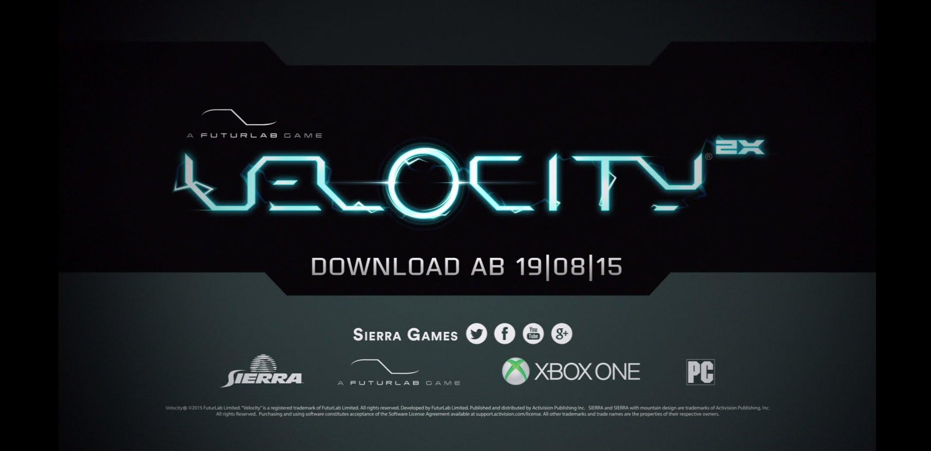 Sierra präsentiert Trailer zu  Velocity 2X