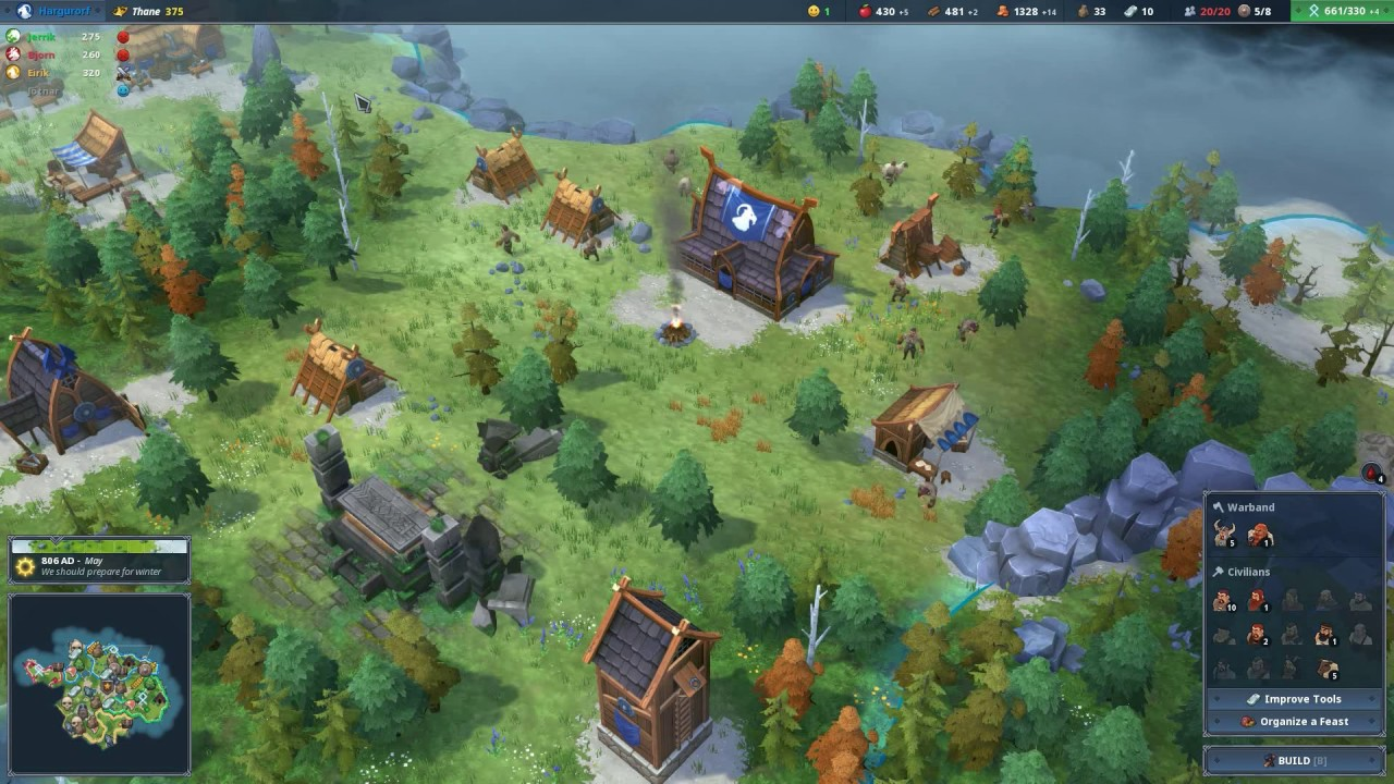 Wikinger Strategiespiel ab heute auf Steam Early Access