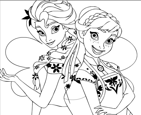 Elsa And Anna Coloring  Frozen Games