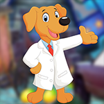 G4K Cheerful Doctor Dog Escape