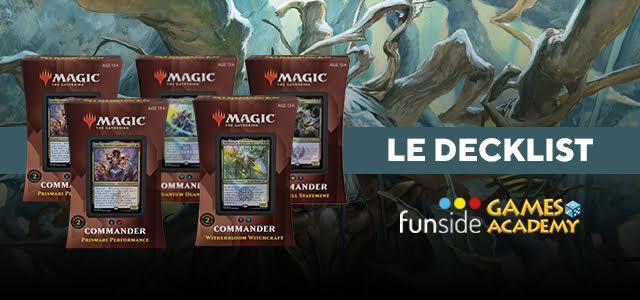 Magic Commander Deck 2021 Le Decklist Banner