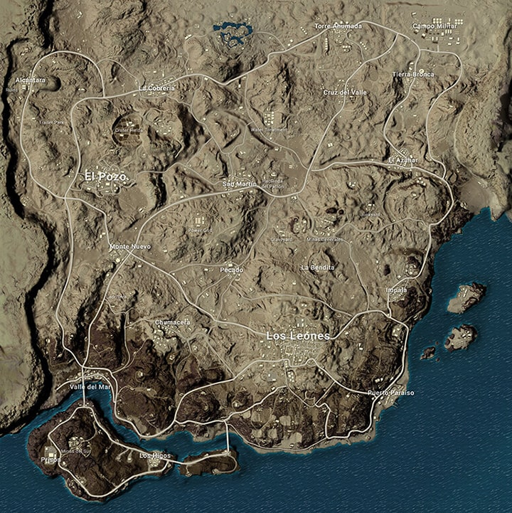 PUBG Miramar Map