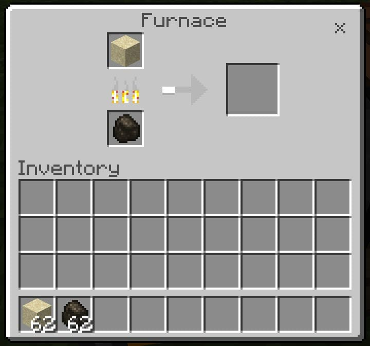 Cooking Glass in Minecraft