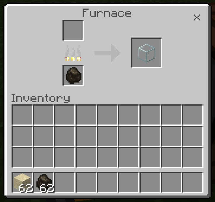 Glass Recipes in Minecraft
