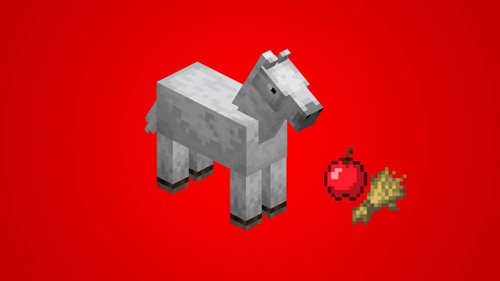 What do Horses Eat in Minecraft