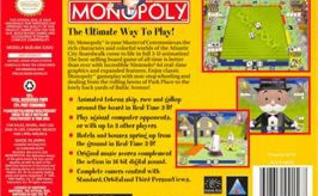 Monopoly Nintendo N64 Games Database