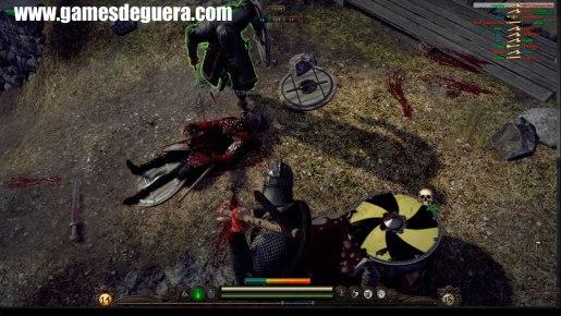 Acabe com eles! Após derrotar um inimigo, você deve executá-lo no chão.