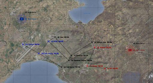 um dos mapas com as cidades de EUTW