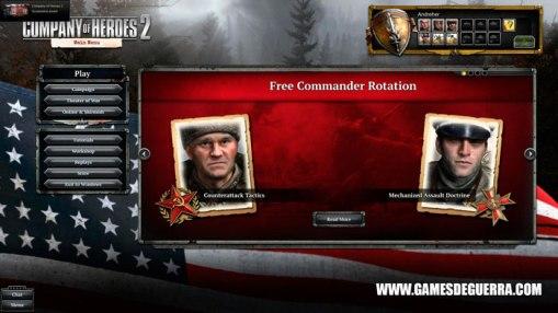 Bela interface e apresentação de Company of Heroes 2: The Western Front Armies