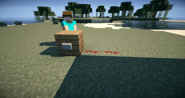 Paso 1 Tutorial botón on-off Minecraft